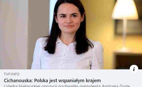 Поляков взбесила фраза Тихановской оПольше, где «президент слушает народ»