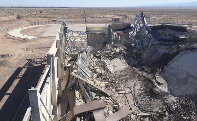 ВКазахстане рухнул строящийся спортивный комплекс