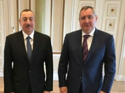 Рогозин написал, затем удалил запись о встрече с Алиевым в Баку