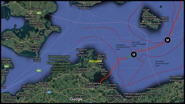 «Фортуна» вытянула «Северный поток-2» в немецкие воды