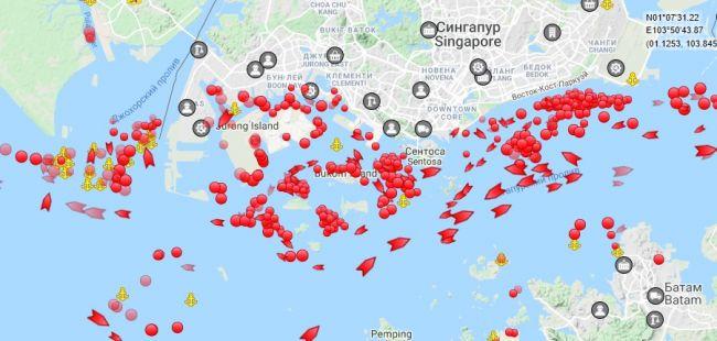 Танкеры с ненужной нефтью начинают создавать пробки по всему миру (инфографика)