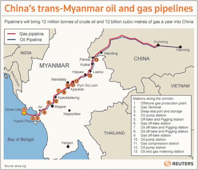 9c32b8c664146b160c7e4ecdcbd6c Оппозиция Мьянмы: Китай ввел войска, чтобы защитить газопровод